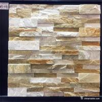 China Slate Culture Stone High Hardness Yellow white Slate Culture Stone For Wall Cladding wholesale