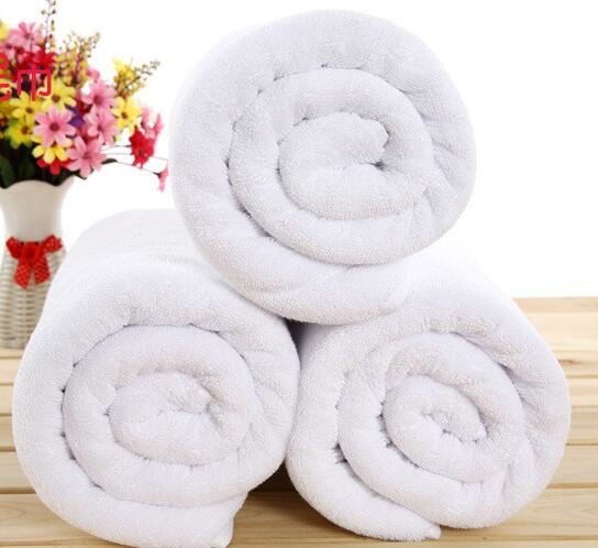 Quality Extra big bath towel as 80*180cm, 800g white plain terry hotel towel for wholesale for sale