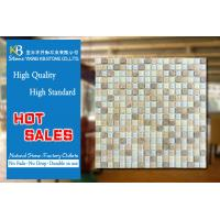 China Glass mosaic mixed stone tile white blue art beige marble tile on sale