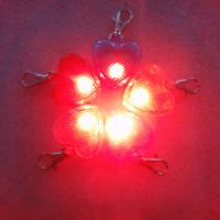 heart shape led pet in tag