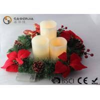 China 3pk Ivory Wax Decorative Led Candles With Remote Control DL-005 wholesale