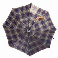 China 170T Polyester Civil Umbrella with Steel Black Outlook and Plastic Handle Wooden Outlook Frame on sale