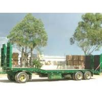 China 60T Cargo Semi Trailer Truck , Low Loader Semi Trailer With Air Suspension on sale