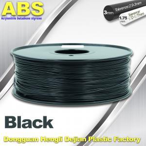 China Black 1.75mm /3.0mm 3D Printer Filament 3D Printer Consumables ABS Filament wholesale