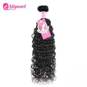 China Water Wave Indian Virgin Hair Bundles , 8A Indian Curly Human Hair Weave Bundles on sale