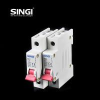 Quality Breaking capacity reach to 10000 voltage 230v/400V 20a 50HZ single pole small circuit breaker overload protection for sale