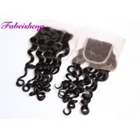 China Brazilian Wavy Hair 4x4 Lace Closure Loose Wave With Bleached Knots wholesale