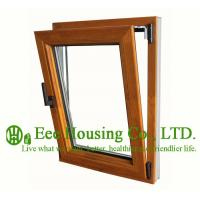 China Tilt and Turn Wood Clad Aluminum Window with Insulating Double Glass For Villas/Apartment wholesale