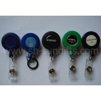 China Frosted Round Solid Colors Retractable Badge Reels wholesale