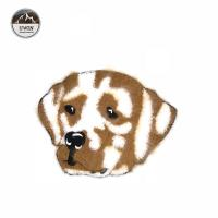 China Animals Dog Design Chenille Patches No Minimum Handmade Brown / White Color wholesale