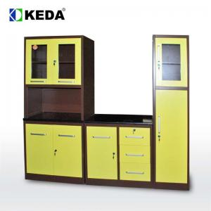 China New Design 0.5mm H1920mm Green Kitchen Cabinets on sale