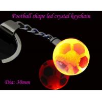 China personalized led crystal football shaped flashlight key chains for Olympic Games wholesale