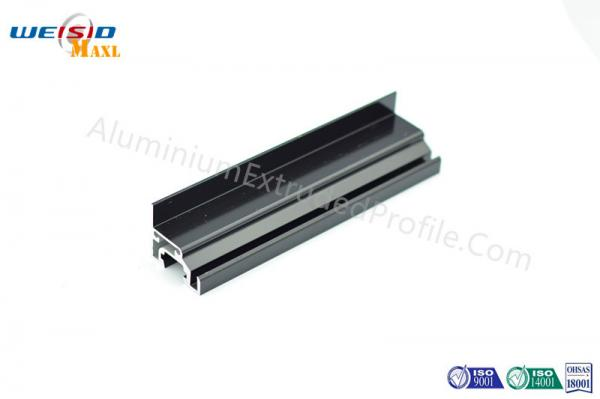 Quality Windows Black Color Electrophoresis Aluminium Extruded Profile Doors Frame for sale