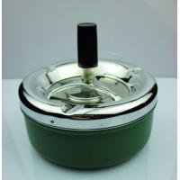 China Round Metal Table Ashtray With Spin Cover wholesale