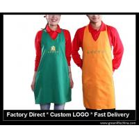 China High quality promotional custom cotton can waist embroidery aprons cheap for advertising wholesale