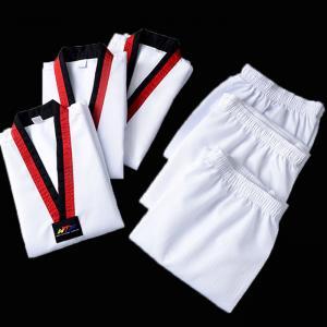 China Custom high quality martial arts dobok taekwondo uniform for adult on sale