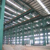 China Customize Prefabricated H Section Garage Steel Frame With Colored Steel Sheets wholesale