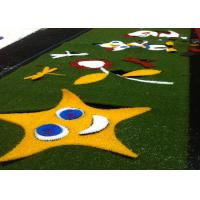 China Decorative Healthy Coloured Artificial Grass False Turf Long Life Expectance wholesale