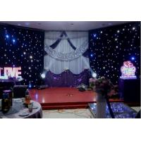 China Fireproof Velvet LED Star Cloth Curtain Events Background Stage Decor wholesale