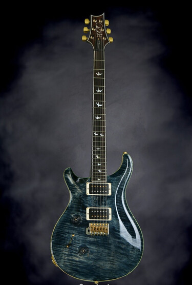 faded whale blue prs left handed guitars anniversary 10-top with