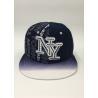 China Snapback Baseball Hat Black Dark blue Letter Embroidery Printing Gradient ramp wholesale