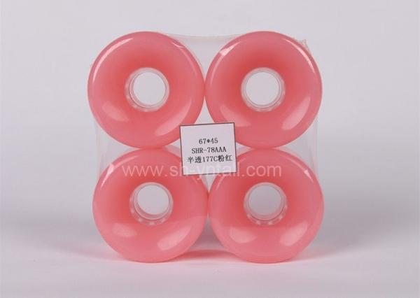 Quality pu wheels for skate board 67*45 transparent Skateboard PU Wheels for sale