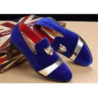 China Men'S Velvet Loafer Shoes With Personality Tiger Head Gold Buckle Red Bottom Shoes wholesale