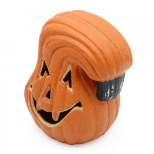 Quality 2019 Halloween toy plastic Jack-o-lantern with light,Decor for halloween,Orange for sale