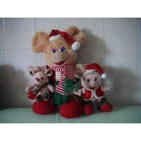 China Cute Design Smart Body Christmas Cartoon Mouse Family Series Custom Plush Toys wholesale