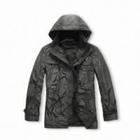 China Men's Hooded Casual Jacket, Made of Wool, Customized Styles are Accepted on sale