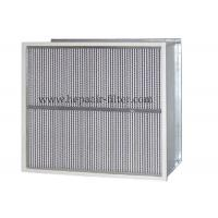China Deep Pleat Type High Temp Hepa Filter Performance With Aluminum Foil Separator on sale