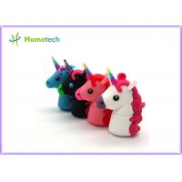 China Promotional Unicorn Real Capacity Horse Pen Drive , Micro Usb Memory Stick Minion wholesale