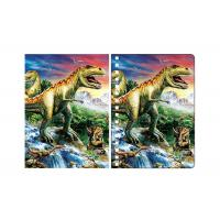 China Amazing Dinosaur 3D Lenticular Spiral Notebook Cover Eco - Friendly wholesale