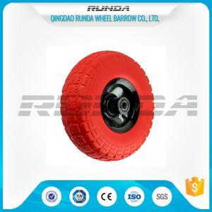 China Tool Cart PU Foam Wheel Offset Hub , PU Trolley heels 136kg Max Loading wholesale