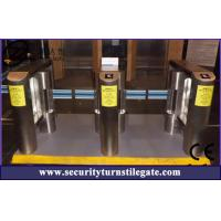 China Automatic Pedestrian Turnstile Gate / Controlled Access Glass Turnstiles on sale