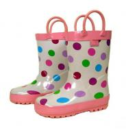 China Cheap Colorful Kids Midlle Rubber Rain Boots, Children's Rubber Boots Sizes 22-35# on sale