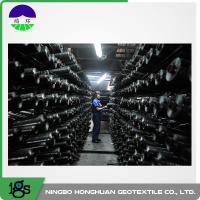 China 200G Black Woven Geotextile Filter Fabric Circle Loom 0°C - +150°C Temperature Range on sale