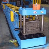 China PLC Control Steel Door Frame Roll Forming Machine 16mm Wall Plate THK on sale