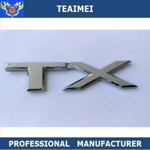 China Alloy Chrome ABS Plastic Silver Custom Car Emblems Car Letter Emblem Badge wholesale