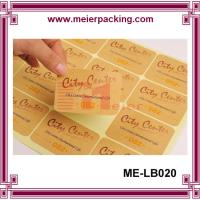China Adhesive kraft paper label sticker for boutique products/None lamination brown paper sticker  ME-LB020 wholesale