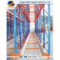 China High Density Warehouse Shuttle Pallet Racking with Durable Steel , Blue Red wholesale