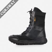 China Wholesale Black Leather Military Boots Army Ankle Boots for Police wholesale