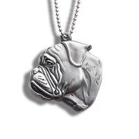 China Anti Loss Metal Dog Id Tags , Necklace Relief Puppy Name Tags 37*40mm on sale