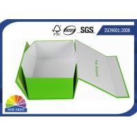 China Custom Rectangle Folding Paper Gift Box / Printed Paper Storage Boxes for Shoes or Garment wholesale