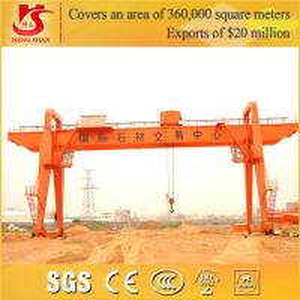 China Rail-mounted gantry crane Industrial Double Girder crane on sale