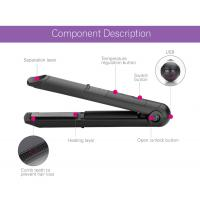China Usb Cordless Rechargeable Curling Tools Battery Operated Flat Iron For Outdoor wholesale
