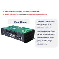 China 1 Channel HD Encoder Digital TV Modulator with USB and Web server Management wholesale