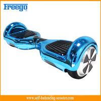 China Blue Chrome Plated Two Wheel Hoverboard Self Balance Environmental Protection wholesale