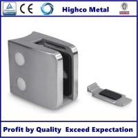 China Stainless Steel Square Glass Clamp with Flat Back 55x55mm Fit 8-12.76mm Glass for Staircase Glass Railing on sale