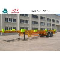 China Heavy Duty 50 Tons Skeletal Container Trailer 12420*2480*1540 Dimension wholesale